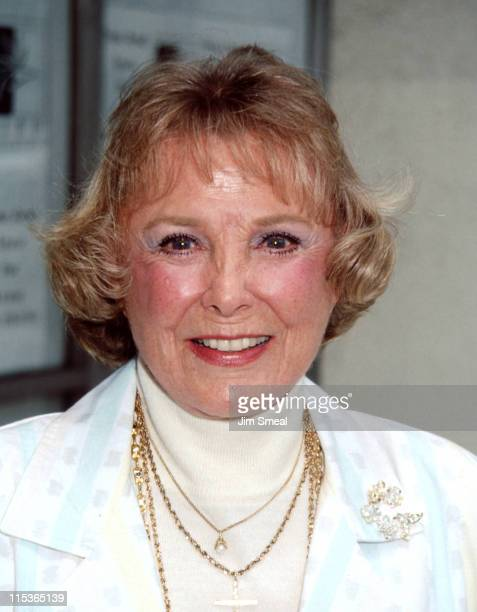 """Actress/singer June Allyson during First Annual """"MGM Girls"""" Reunion, 1992 at Tse Yang Restaurant in Beverly Hills, California, United States."""
