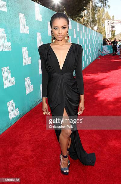 Actress/singer Kat Graham arrives at the 2012 MTV Movie Awards held at Gibson Amphitheatre on June 3 2012 in Universal City California