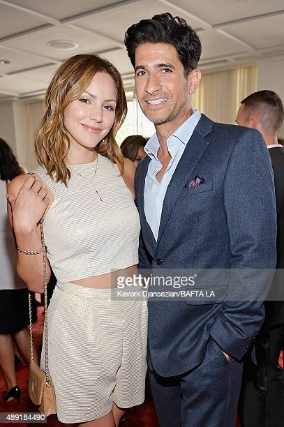 Actress/singer Katharine McPhee and actor Raza Jaffrey attend the 2015 BAFTA Los Angeles TV Tea at SLS Hotel on September 19 2015 in Beverly Hills...
