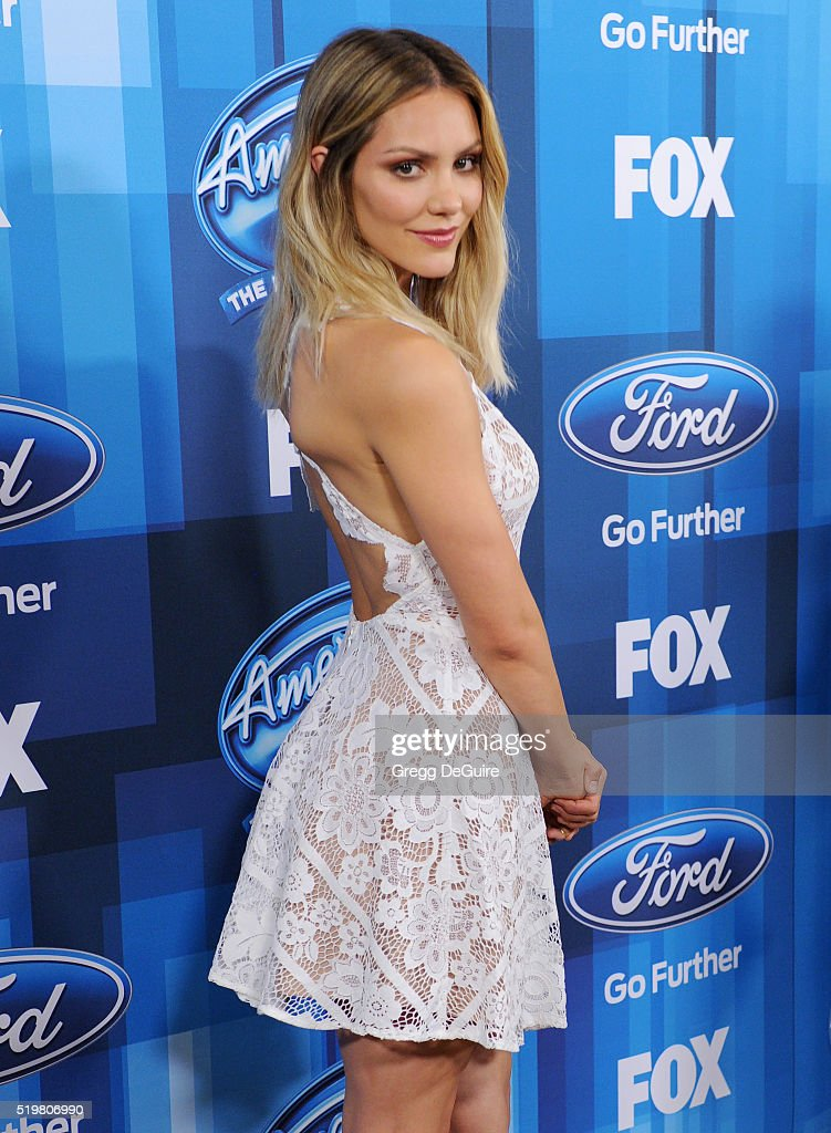 Actress/singer Katharine McPhee arrives at FOX's 'American Idol' Finale For The Farewell Season at Dolby Theatre on April 7, 2016 in Hollywood, California.