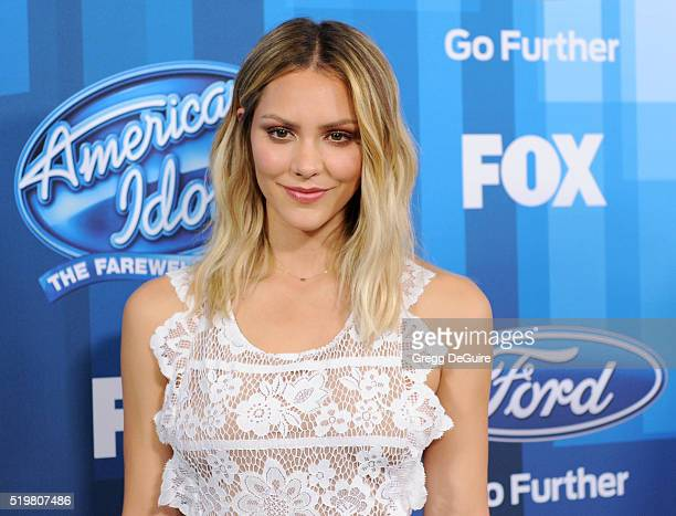 Actress/singer Katharine McPhee arrives at FOX's American Idol Finale For The Farewell Season at Dolby Theatre on April 7 2016 in Hollywood California