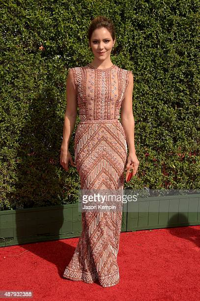 Actress/singer Katharine McPhee attends the 2015 Creative Arts Emmy Awards at Microsoft Theater on September 12 2015 in Los Angeles California