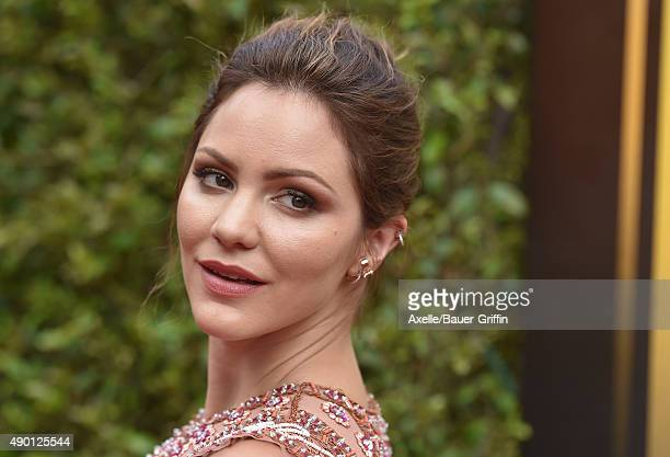 Actress/singer Katharine McPhee attends the 2015 Creative Arts Emmy Awards at Microsoft Theater on September 12, 2015 in Los Angeles, California.