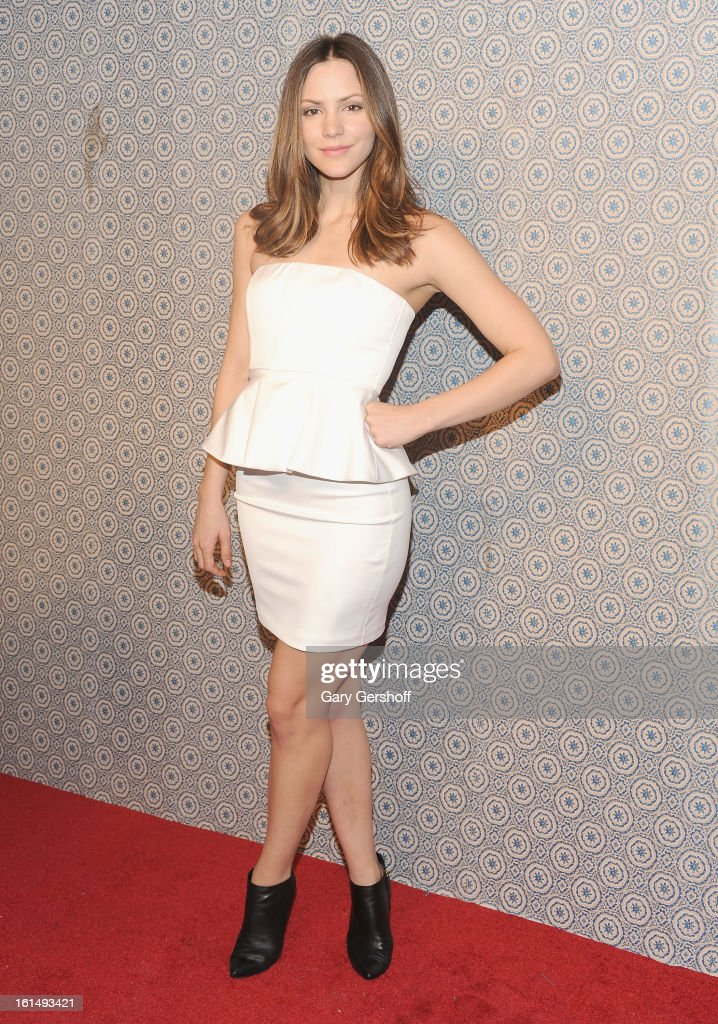 Actress/singer Katharine McPhee attends the Alice + Olivia By Stacey Bendet presentation during Fall 2013 Mercedes-Benz Fashion Week on February 11, 2013 in New York City.