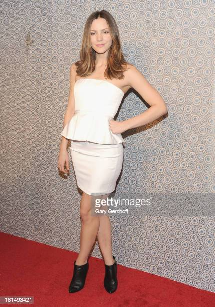 Actress/singer Katharine McPhee attends the Alice Olivia By Stacey Bendet presentation during Fall 2013 MercedesBenz Fashion Week on February 11 2013...