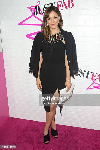 Actress/singer Katharine McPhee attends the JustFab Apparel Launch Event at Sunset Tower on April 1 2015 in West Hollywood California