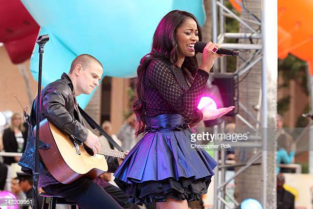 Actress/singer Keke Palmer performs at Nickelodeon's 25th Annual Kids' Choice Awards held at Galen Center on March 31 2012 in Los Angeles California