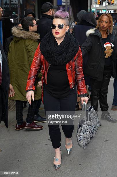 Actress/Singer Kelly Osbourne is seen outside 'Good Morning America' on December 21 2016 in New York City