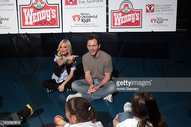 Actress/singer Kristin Chenoweth and actor Tony Goldwyn treat foster care children from the New York area to a Frosty and a special Broadway...