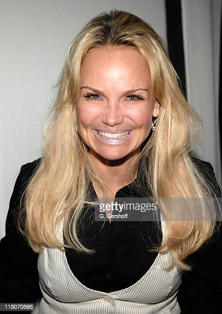 Actress/singer Kristin Chenoweth following her performance at the Encompass New Opera Theatre celebration of Jerry Bock's 80th birthday at the...