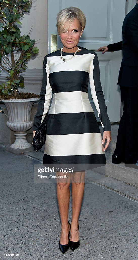 Actress/singer Kristin Chenoweth seen arriving to the Museum of the Moving Image 28th Annual Salute Honoring Kevin Spacey on April 9, 2014 in New York City.