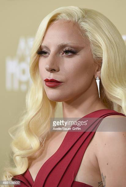 Actress/singer Lady Gaga arrives at the premiere screening of FX's 'American Horror Story Hotel' at Regal Cinemas LA Live on October 3 2015 in Los...