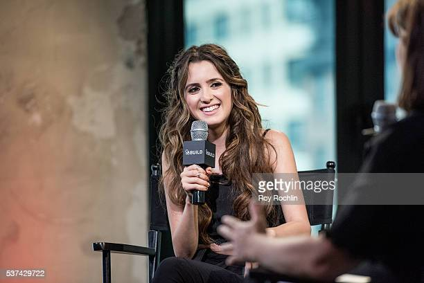 """Actress/singer Laura Marano discusses """"Boombox"""" during AOL Build Speaker Series at AOL Studios on June 1, 2016 in New York City."""