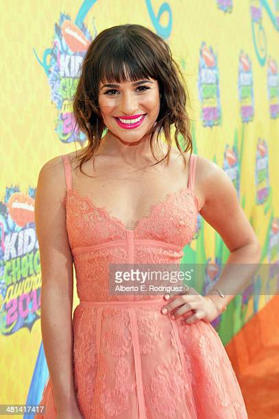 Actress/singer Lea Michele attends Nickelodeon's 27th Annual Kids' Choice Awards held at USC Galen Center on March 29 2014 in Los Angeles California