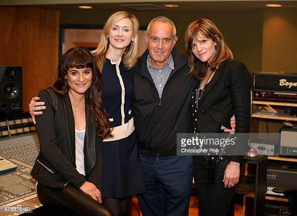Actress/singer Lea Michele Untitled Entertainment's Alissa Vradenburg President Columbia Records Ashley Newton and Pulse Recordings' Anne Preven...