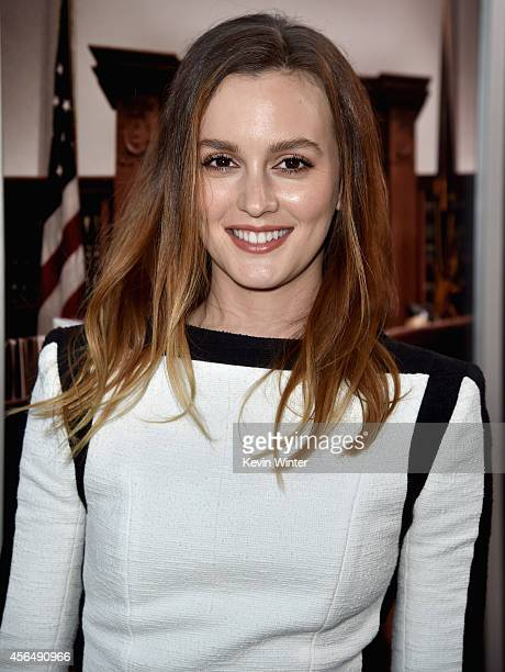 Actress/singer Leighton Meester attends the Premiere of Warner Bros Pictures and Village Roadshow Pictures' 'The Judge' at AMPAS Samuel Goldwyn...