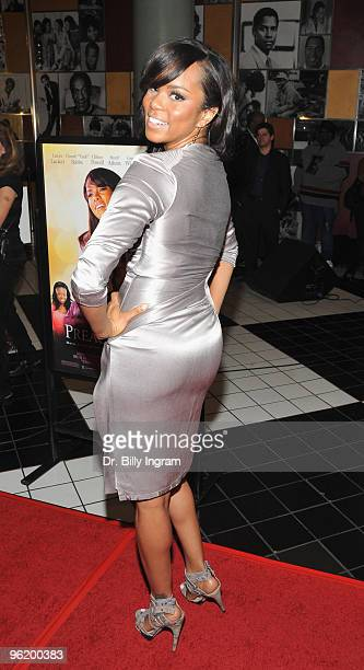 Actress/singer LeToya Luckett arrives at the premiere of the 'Preacher's Kid' at Magic Theaters on January 26 2010 in Los Angeles California