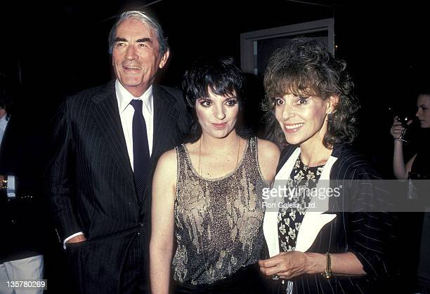 """Actress/Singer Liza Minnelli, actor Gregory Peck and wife Veronique Peck attend """"A Star is Born"""" Specially Restored 29th Anniversary Screening on..."""