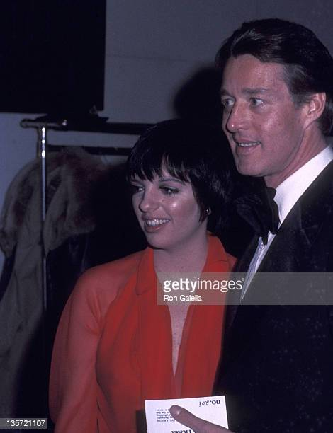 """Actress/Singer Liza Minnelli and fashion designer Halston attend the """"All the President's Men"""" Premiere Party on April 5, 1976 at the U.S...."""