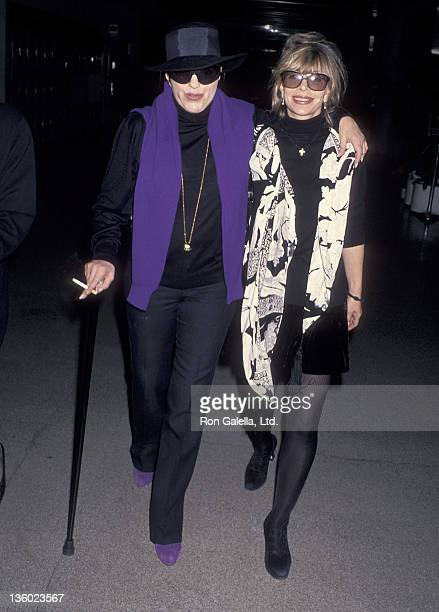 Actress/Singer Liza Minnelli and fashion editor Grace Mirabella depart for Washington DC on December 9 1994 from the Los Angeles International...