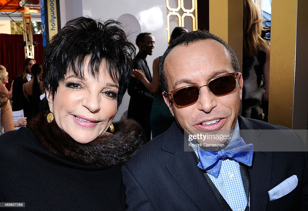 Actress-singer Liza Minnelli and guest attend the 20th Annual Screen Actors Guild Awards at The Shrine Auditorium on January 18, 2014 in Los Angeles, California.
