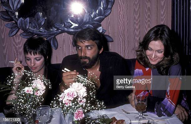 Actress/Singer Liza Minnelli and huband Marco Gero and actress Kate Jackson attend the Endless Love Premiere Party on July 16 1981 at Hisae...