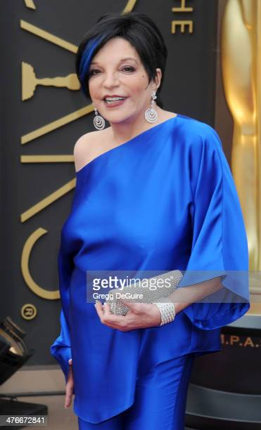 Actress/singer Liza Minnelli arrives at the 86th Annual Academy Awards at Hollywood & Highland Center on March 2, 2014 in Hollywood, California.