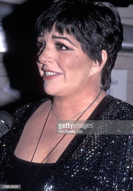 Actress/Singer Liza Minnelli attends the 14th Annual MAC Awards on April 9 2000 at Town Hall in New York City