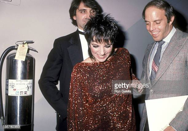 Actress/Singer Liza Minnelli husband Mark Gero and her halfbrother Joey Luft attend the Legends Show Stoppers OneTime Only Fashion Show and Stage...