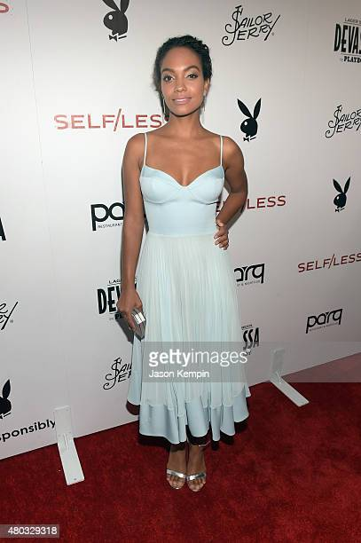Actress/singer Lyndie Greenwood attends Playboy and Gramercy Pictures' Self/less party during ComicCon weekend at Parq Restaurant Nightclub on July...