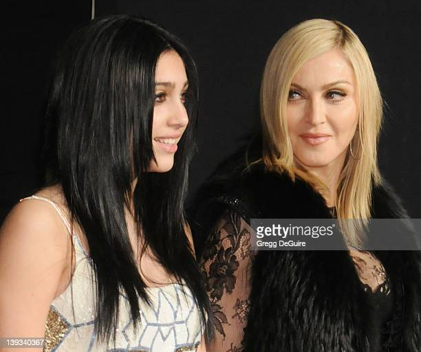 Actress/singer Madonna and daughter Lourdes Leon arrive at the Vanity Fair Oscar Party 2011 February 27 2011 at the Sunset Tower Hotel in West...