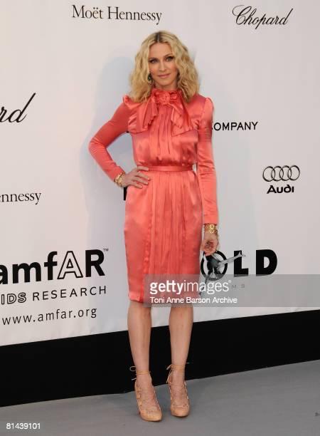Actress/Singer Madonna arrives at amfAR's Cinema Against AIDS 2008 benefit held at Le Moulin de Mougins during the 61st International Cannes Film...