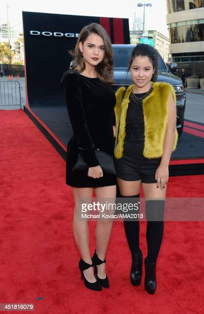 Actress/singer Maia Mitchell attends the 2013 American Music Awards Powered by Dodge at Nokia Theatre LA Live on November 24 2013 in Los Angeles...
