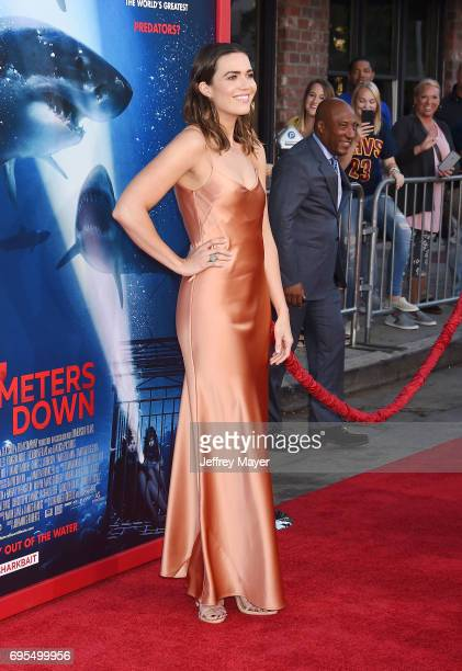 Actresssinger Mandy Moore attends the Premiere Of Dimension Films' '47 Meters Down' at Regency Village Theatre on June 12 2017 in Westwood California