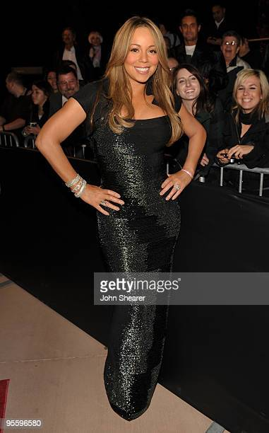 Actress/singer Mariah Carey arrives at the 2010 Palm Springs International Film Festival gala held at the Palm Springs Convention Center on January 5...