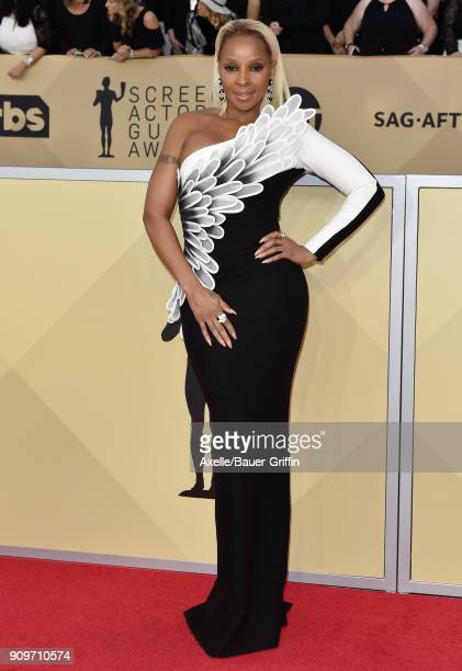 Actress/singer Mary J Blige attends the 24th Annual Screen Actors Guild Awards at The Shrine Auditorium on January 21 2018 in Los Angeles California