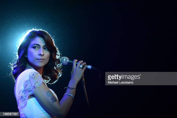 Actress/singer Meesha Shafi performs at the opening night ceremony and gala screening of The Reluctant Fundamentalist during the 2012 Doha Tribeca...