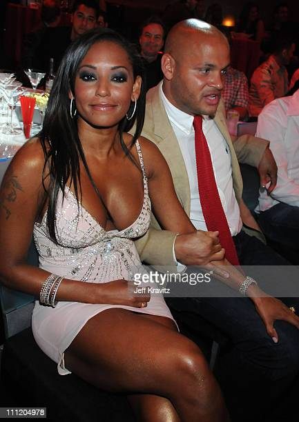 Actress/singer Melanie B and husband producer Stephen Belafonte attend Spike TV's 2nd Annual 'Guys Choice' Awards at Sony Studios on May 30 2008 in...