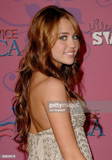 Actress/singer Miley Cyrus arrives at Miley Cyrus` 'Sweet 16' Celebration' at Disneyland on October 5 2008 in Anaheim California