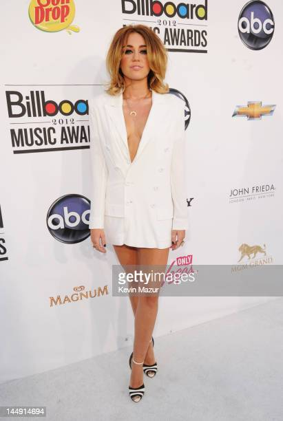 Actress/singer Miley Cyrus arrives at the 2012 Billboard Music Awards at the MGM Grand Garden Arena on May 20 2012 in Las Vegas Nevada