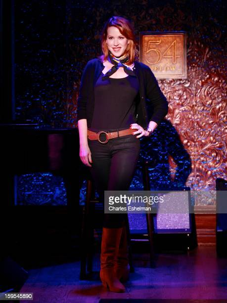 Actress/singer Molly Ringwald attends a press preview at 54 Below on January 15 2013 in New York City