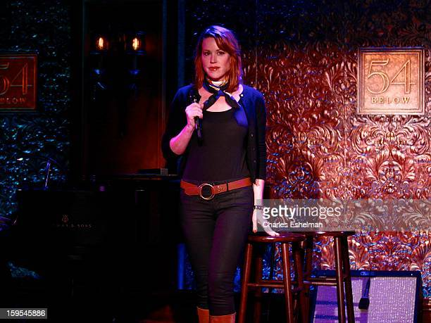 Actress/singer Molly Ringwald performs during a press preview at 54 Below on January 15 2013 in New York City
