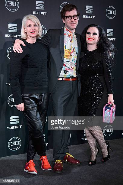 Actress/singer Nawja Nimri, Joaquin Reyes and Alaska attend the Seat Ibiza 30th Anniversary Party at COAM on November 6, 2014 in Madrid, Spain.