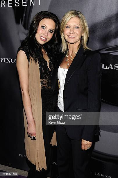 Actress/Singer Oliva NewtonJohn and daughter Chloe Lattanzi arrive to Prince's Book Release Party on May 30 2008 in Los AngelesCalifornia