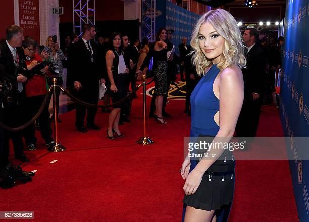 Actress/singer Olivia Holt attends the 2016 NASCAR Sprint Cup Series Awards at Wynn Las Vegas on December 2 2016 in Las Vegas Nevada