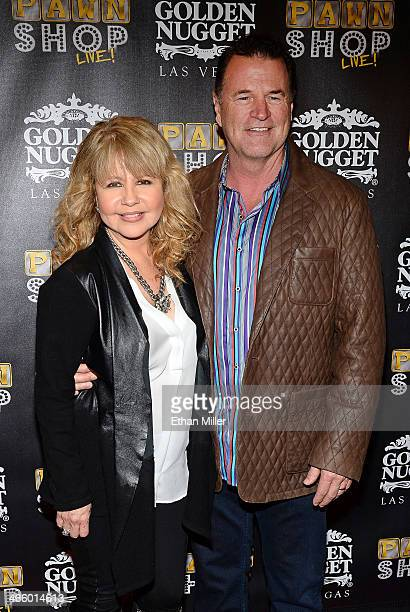 Actress/singer Pia Zadora and her husband Michael Jeffries arrive at the opening of Pawn Shop Live a parody of History's Pawn Stars television series...
