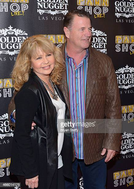 Actress/singer Pia Zadora and her husband Michael Jeffries arrives at the opening of 'Pawn Shop Live' a parody of History's 'Pawn Stars' television...