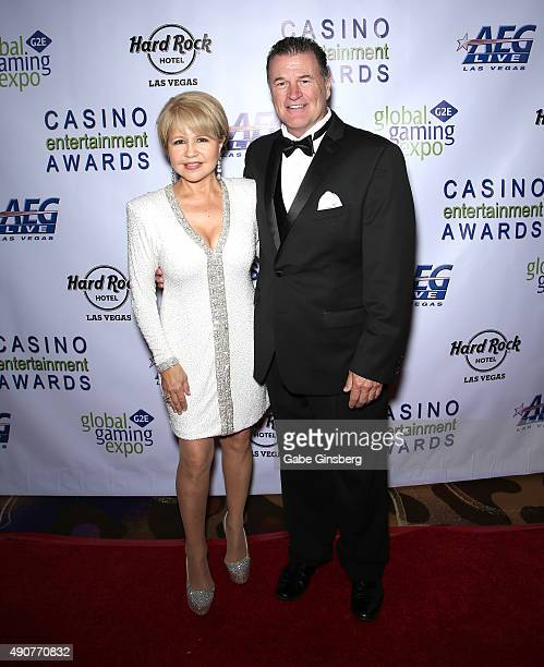 Actress/singer Pia Zadora and her husband Michael Jeffries attend Global Gaming Expo's Casino Entertainment Awards at Vinyl inside the Hard Rock...