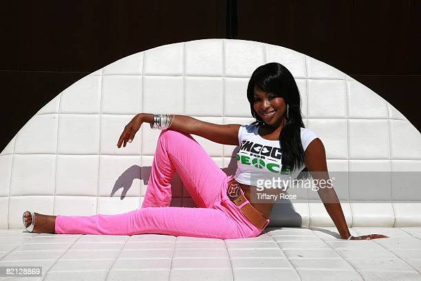 Actresssinger Porscha Coleman attends the Smooch Photo Shoot on July 30 2008 in Los Angeles California