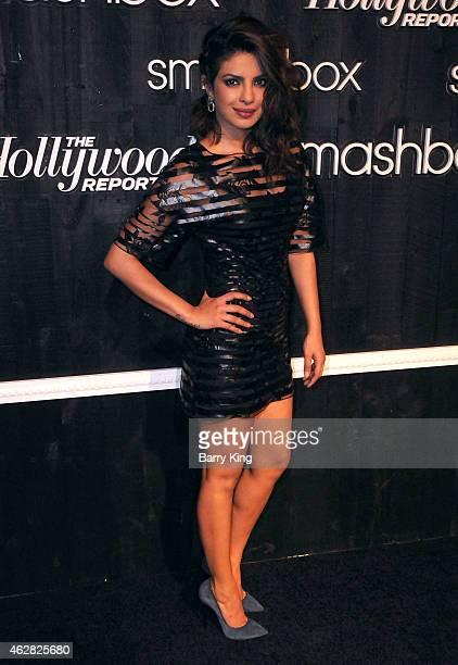 Actress/singer Priyanka Chopra arrives at Smashbox Studios Grand ReOpening Party at Smashbox Studios on February 5 2015 in Culver City California